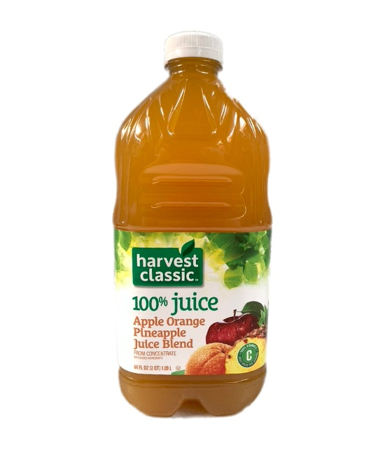 Harvest classic Apple, Orange, pineapple Juice blend