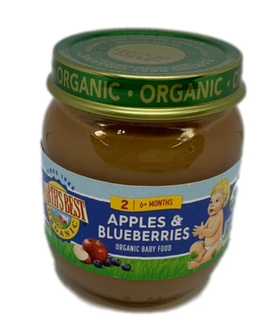 Earths Best Organic Apple and blueberries Organic Baby Food