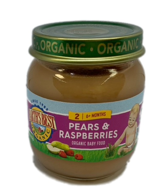 Earths Best Organic Pears and raspberries Organic Baby Food