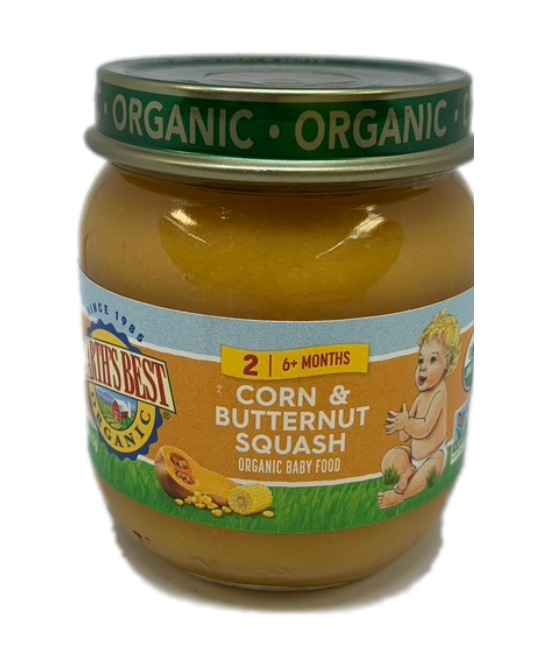 Earths Best Organic Corn Butternut Squash Organic Baby Food