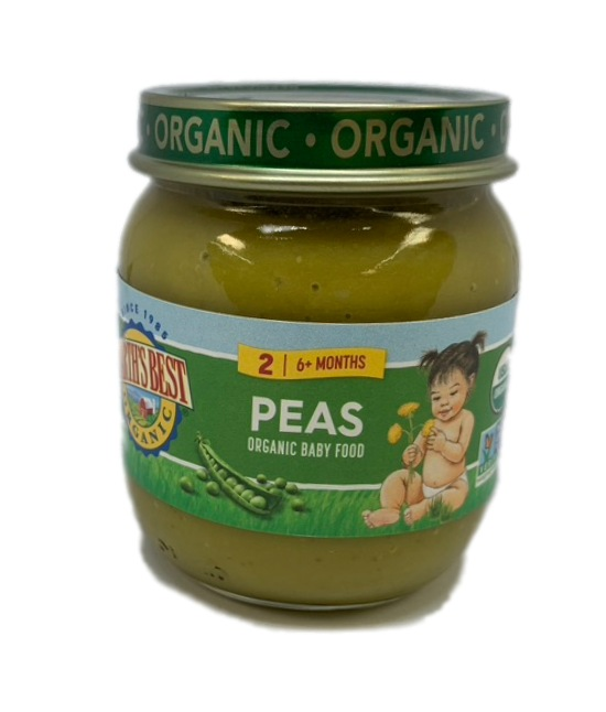 Earths Best Organic Peas Organic Baby Food