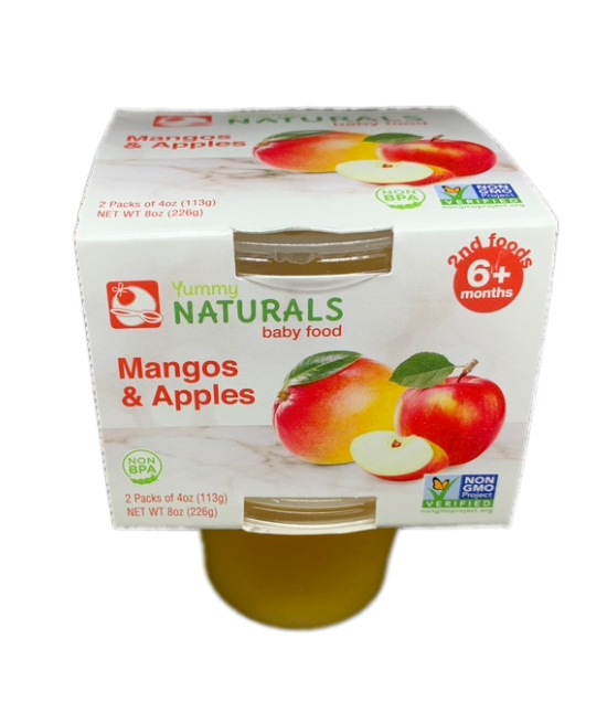 Yummy Naturals baby food Mango and apples