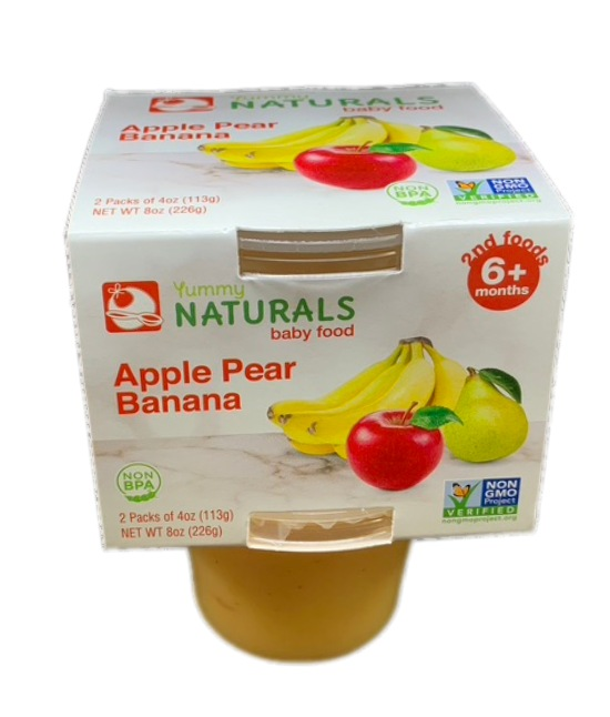 Yummy Naturals baby food Apple Pear Banana
