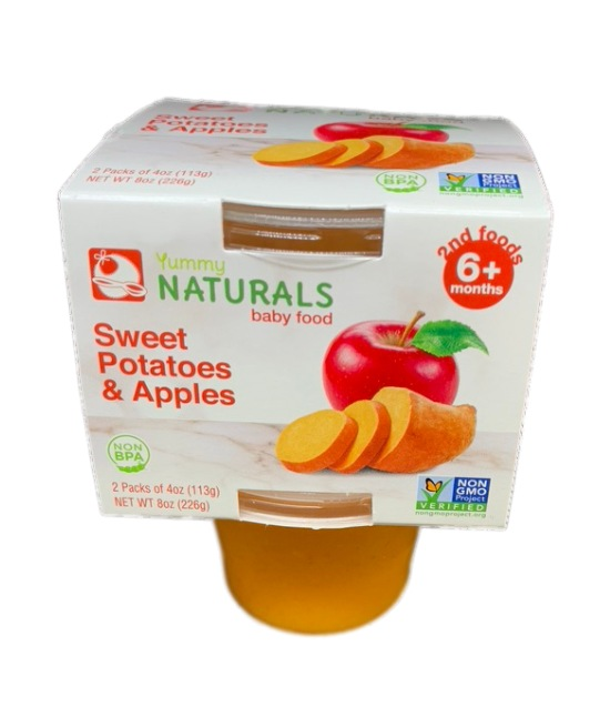 Yummy Naturals baby food Sweet Potatoes and apples