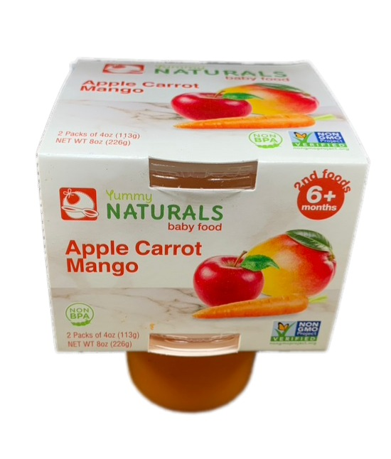Yummy Naturals baby food Apple Carrot Mango