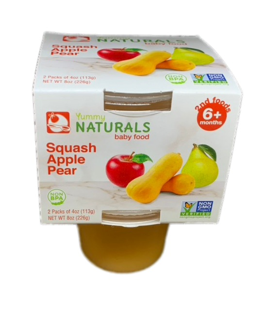 Yummy Naturals baby food Squash apple pear