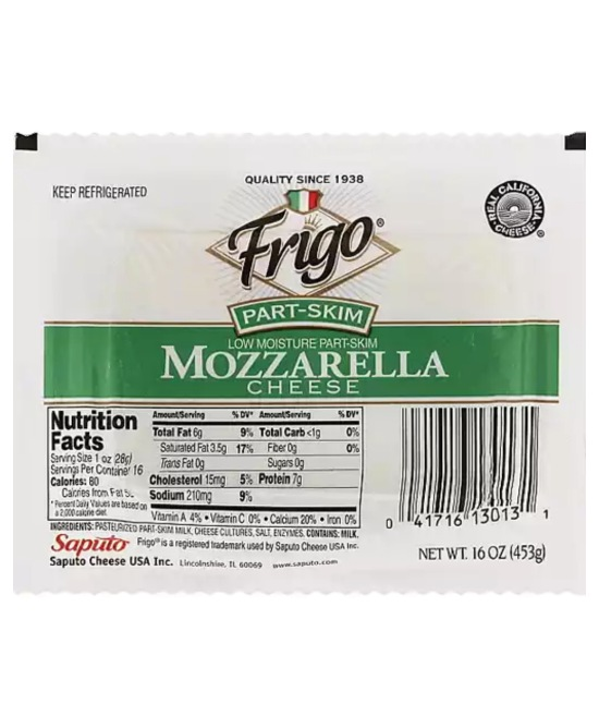 Frigo part -Skim Mozzarella