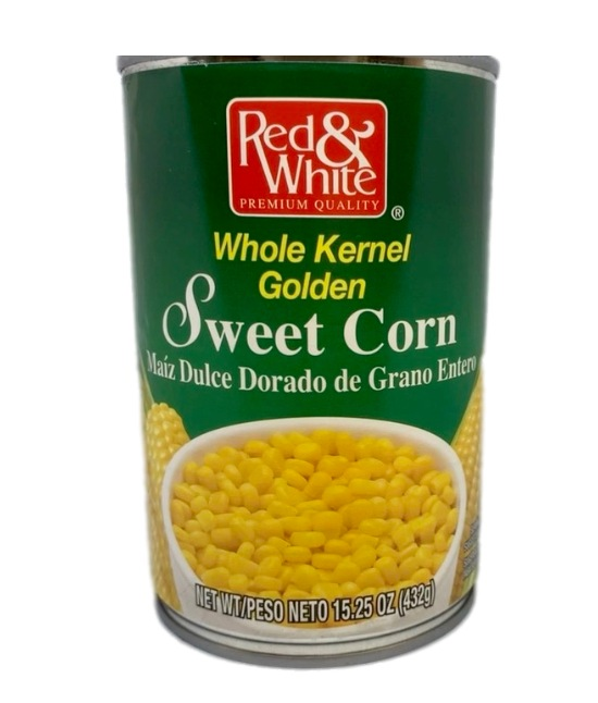 Red & White Sweet Corn can