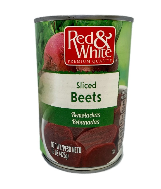 Red & White Sliced Beets can