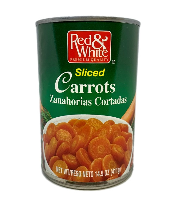 Red & White Sliced carrots can