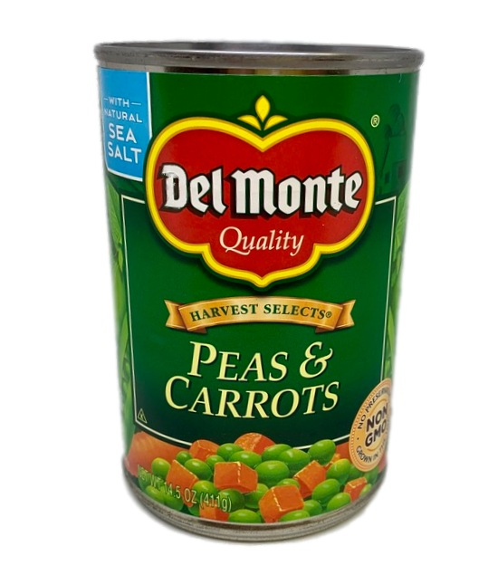 Del Monte Peas and carrots can