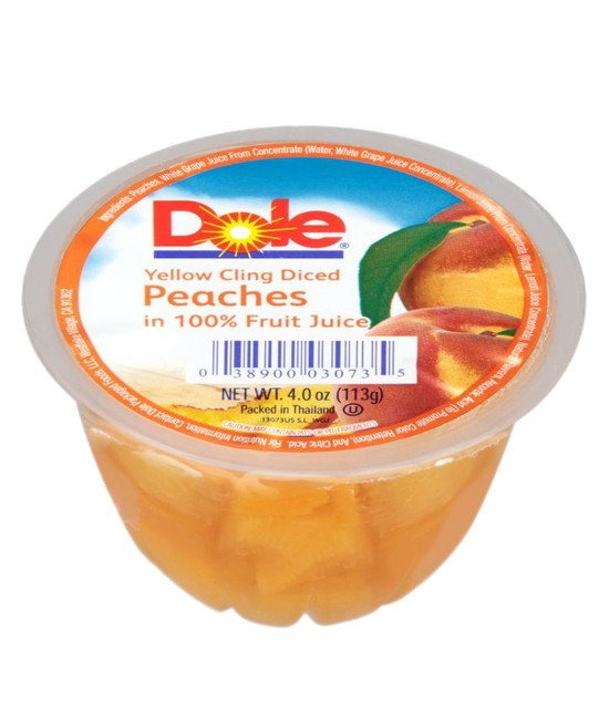 Dole peaches in 100% Fruit Juice