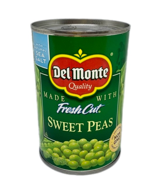 Del Monte sweet peas can