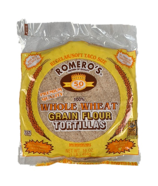 Romeros whole grain grain flour tortillas