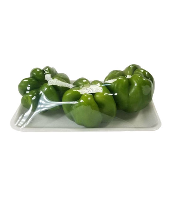 Green Bell Peppers in a tray