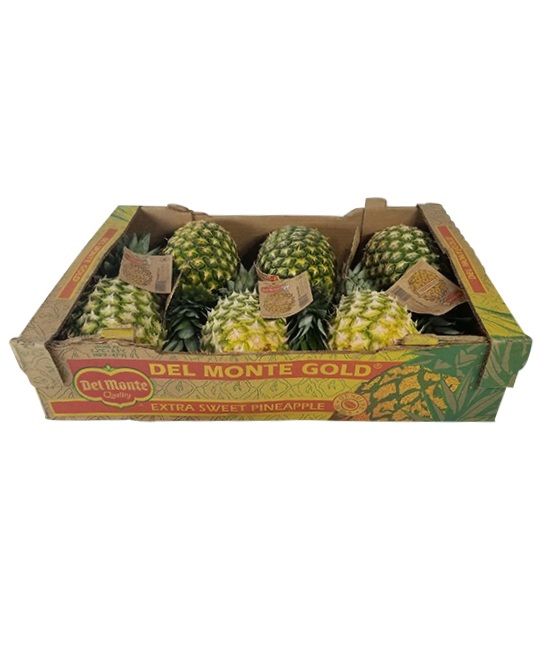 Pineapples in a box