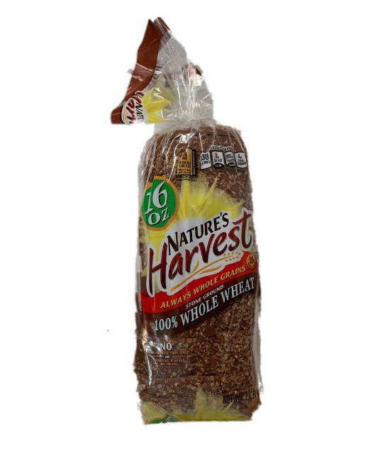 Nature's Harvest bread whole wheat