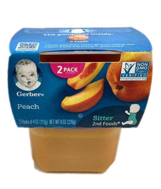 Gerber Peach Baby food