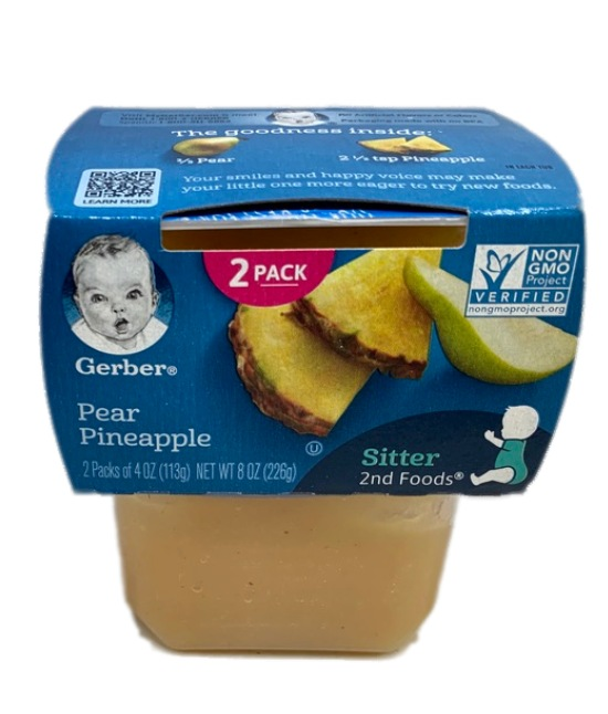Gerber Pear Pineapple Baby food