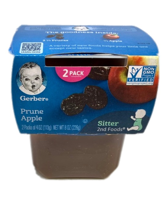 Gerber Prune Apple Baby food