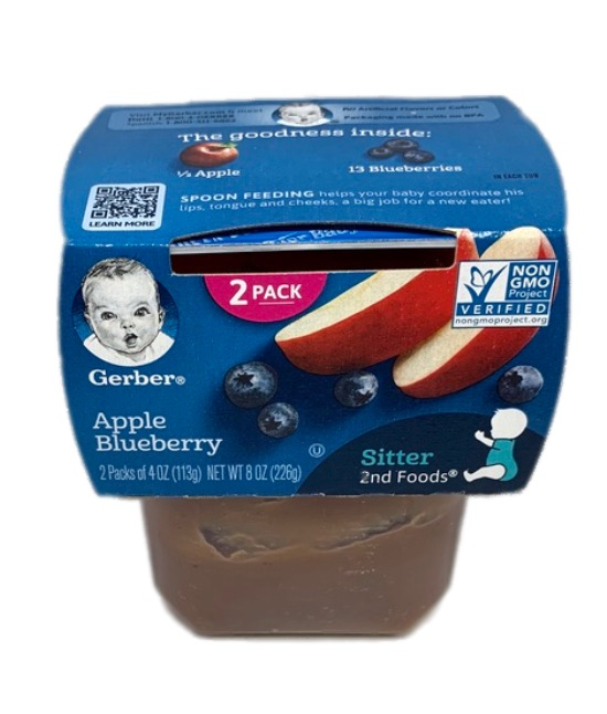 Gerber Apple Blueberry Baby food