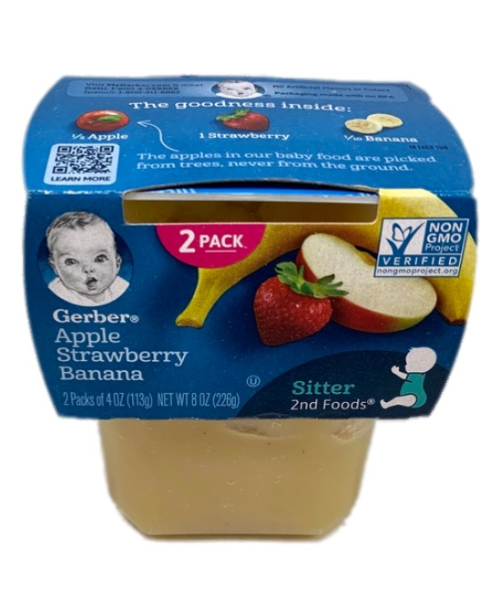 Gerber Banana Apple Strawberry Baby food