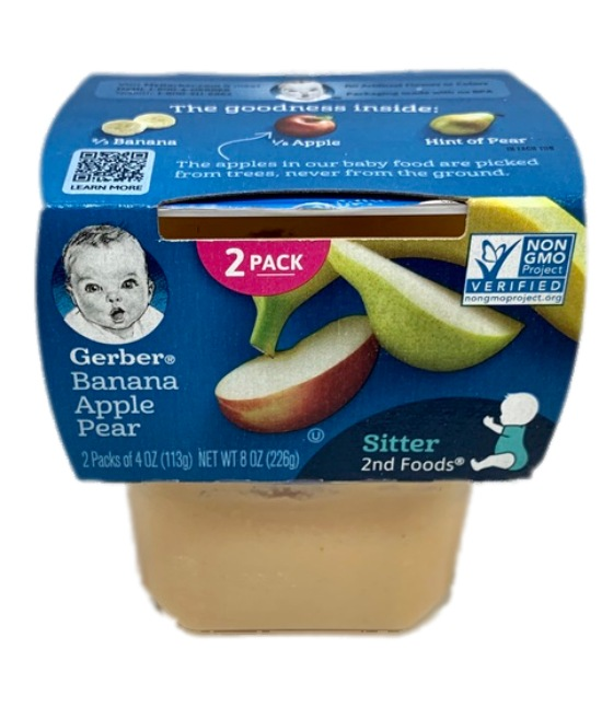 Gerber Banana Apple Pear Baby food