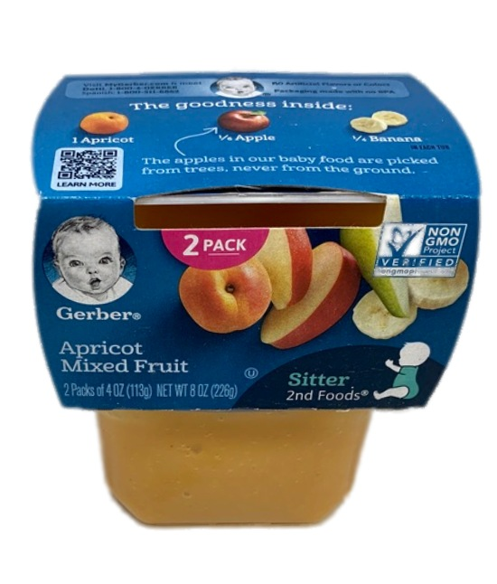 Gerber Apricot Mixed Fruit Baby food