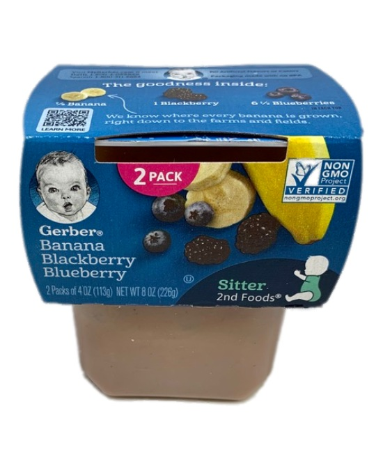 Gerber Banana Blackberry Blueberry Baby food