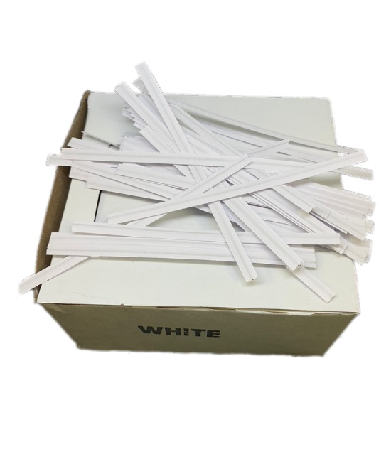 white strings in a box