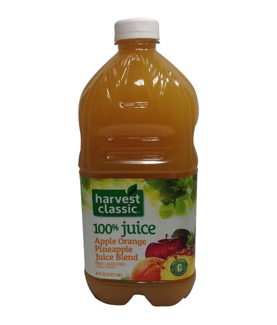 Harvest Classic Apple, Orange,Pineapple 8/64oz